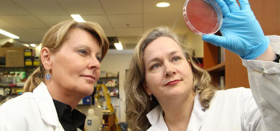 Dr. Bonnie Mallard and coworker